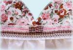 Платье в цветочек розовое