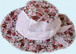 Панамка в цветочек розовая
